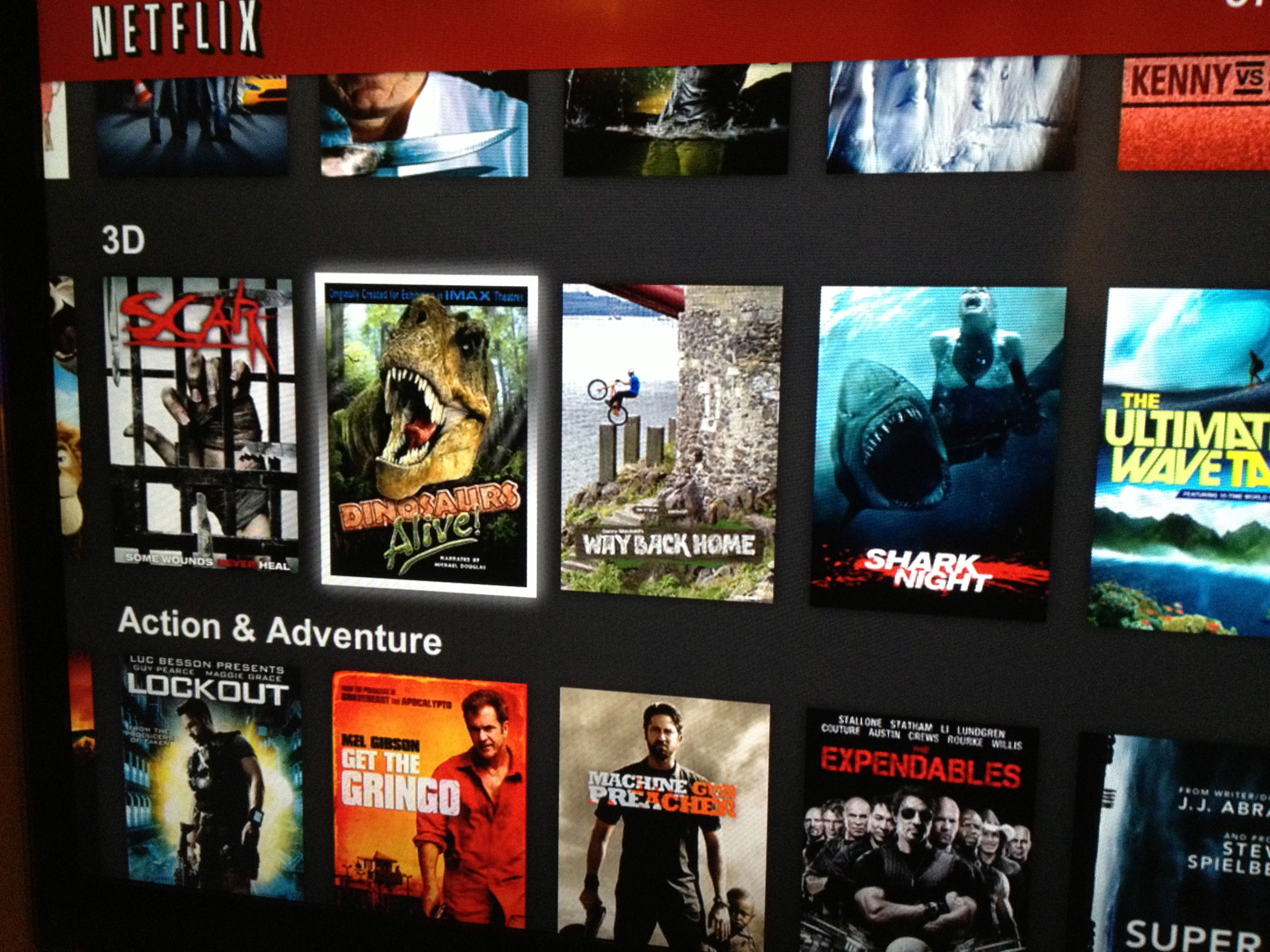 New Netflix 3d Movies List Available